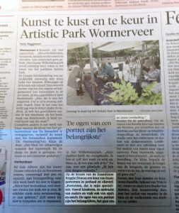 Artikel Noord Hollands Dagblad Zaanstreek Artistic Park