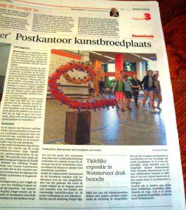 Artikel NHD Zaanstreek Postkantoor expositie