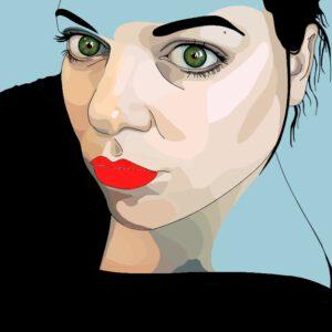Zelfportret, digitaal